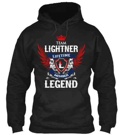 Team Lightner Lifetime Member Legend Black T-Shirt Front
