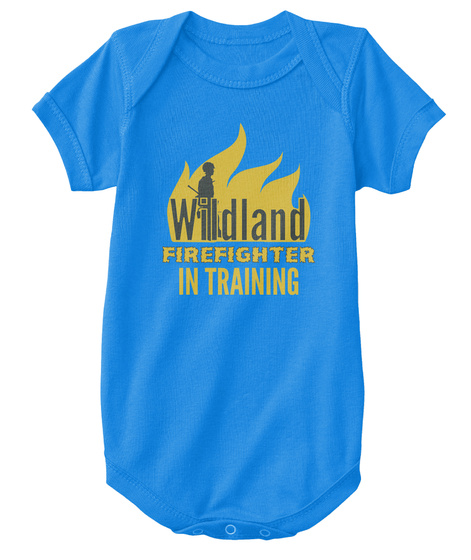 Wildland Firefighter In Training Royal T-Shirt Front