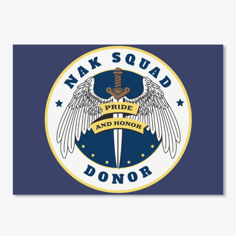 Nak Donor Logo Stickers Dark Navy T-Shirt Front