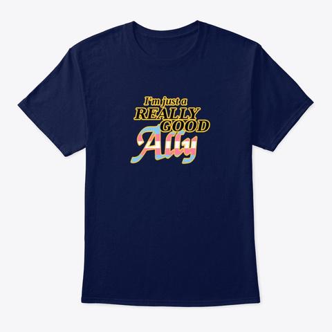 Really Good Trans Ally Navy T-Shirt Front