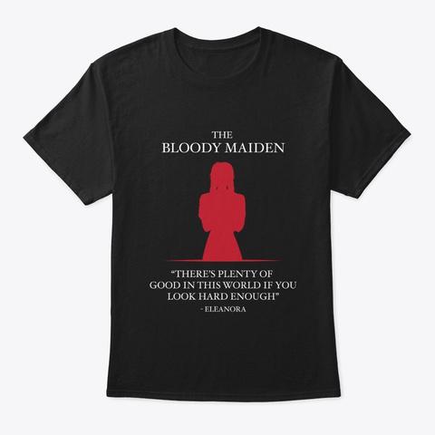 There's Plenty Of Good (Black) Black T-Shirt Front
