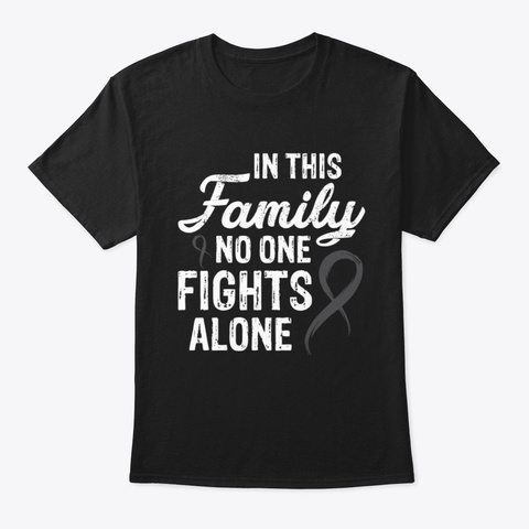 No One Fights Alone Skin Cancer V2 Tee Black T-Shirt Front