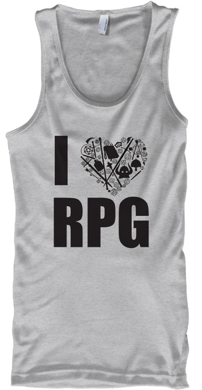 I Heart Rpg 2 Sport Grey T-Shirt Front