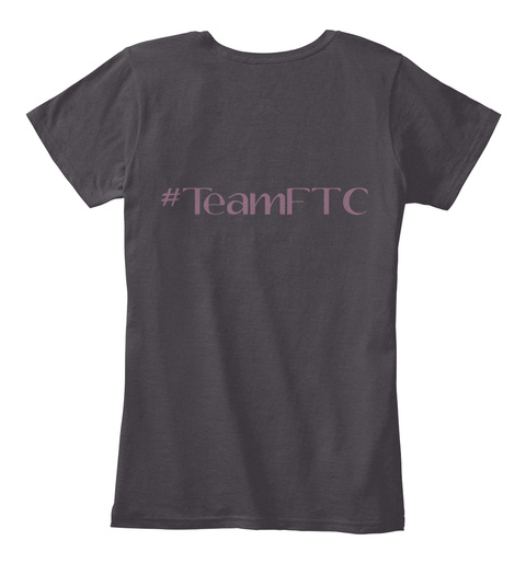 #Teamftc Heathered Charcoal  T-Shirt Back