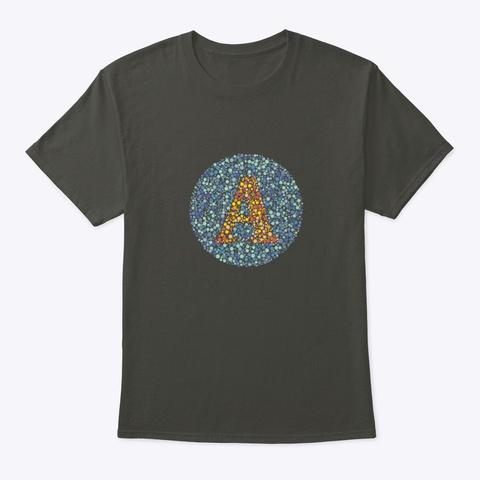 """""""A"""" Eye Test Letter Circle Smoke Gray T-Shirt Front"""