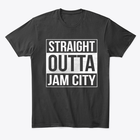 Straight Outta Jam City Black T-Shirt Front