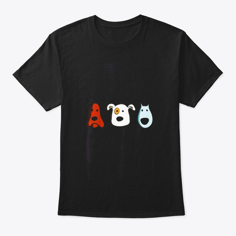 The Only Problem With Dogs Black T-Shirt Front