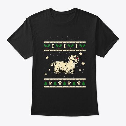 Christmas Cesky Terrier Gift Black T-Shirt Front