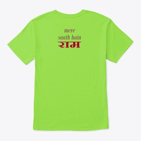 Mere Saath Hain T Shirts Lime T-Shirt Back