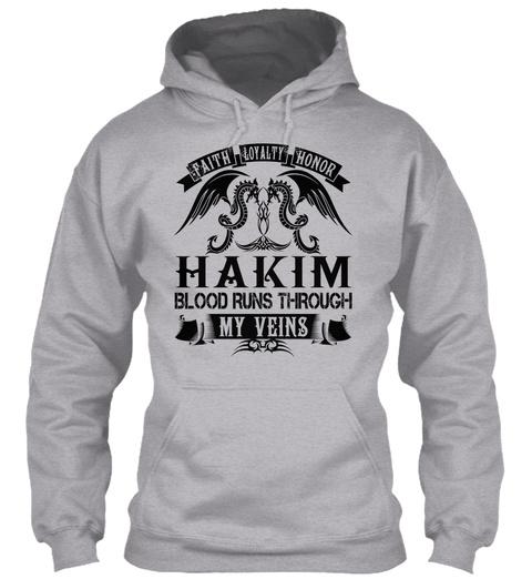 Hakim   My Veins Name Shirts Sport Grey T-Shirt Front