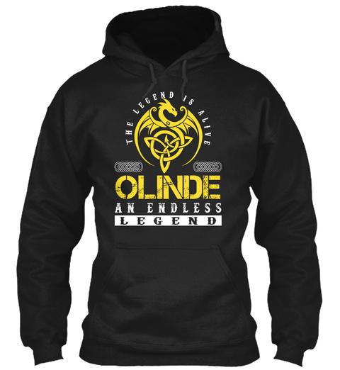 The Legend Is Alive Olinde An Endless Legend Black T-Shirt Front