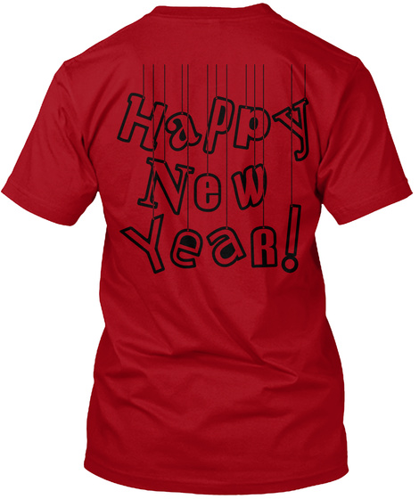 Happy New Year 2020 Deep Red T-Shirt Back