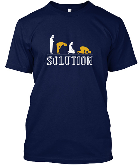 Solution Navy T-Shirt Front