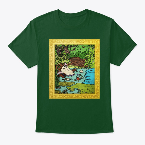 Ophelia Chihuahua Dog Deep Forest T-Shirt Front