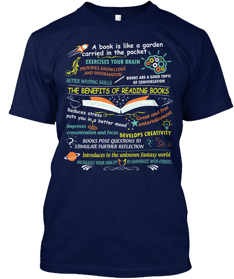 Benefits Of Reading Books !!! T-Shirt Front