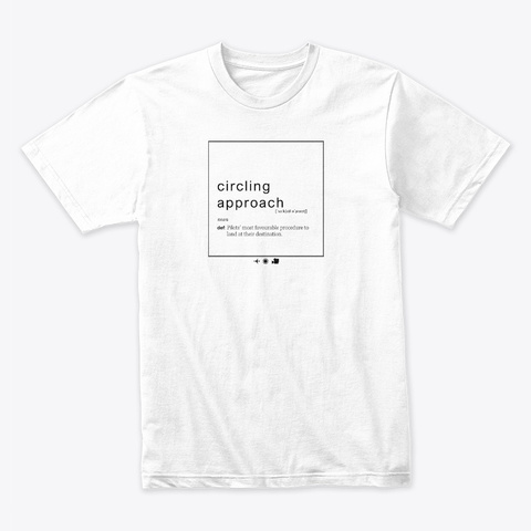 Circling Approach White T-Shirt Front