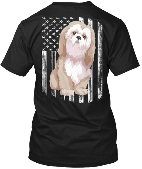 American Flag Bolognese 4th Of July Gift Black T-Shirt Back