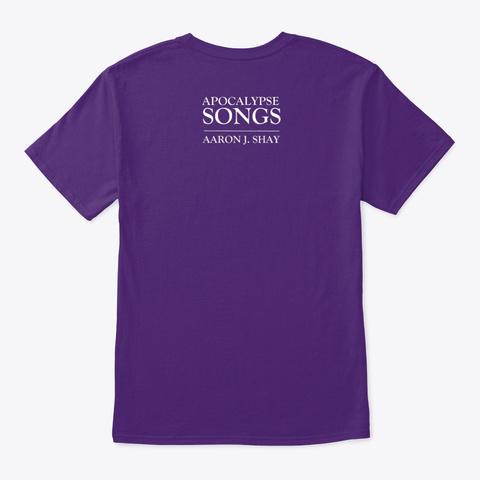 Apocalypse Songs Purple T-Shirt Back