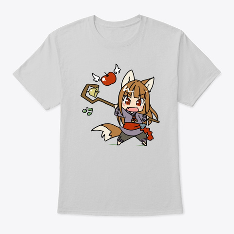 Chibi Horo   Spice And Wolf Light Steel T-Shirt Front
