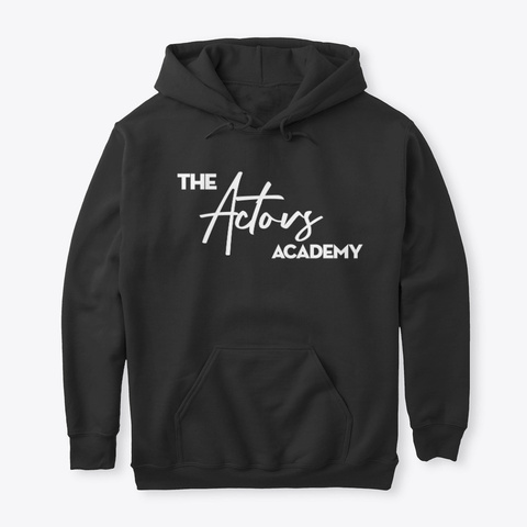 The Actors Academy Black T-Shirt Front