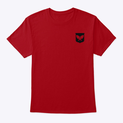 Rise And Shine With Aloha Palm Tree Deep Red T-Shirt Front