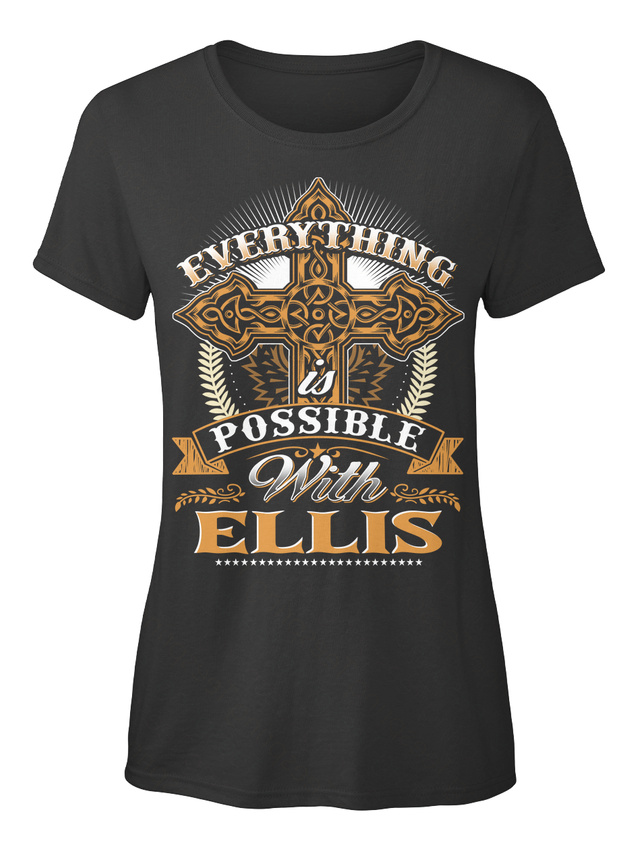In-style-Everything-Possible-With-Ellis-Is-T-shirt-T-shirt-Elegant-pour-Femme