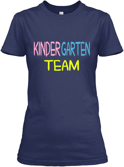 Kinder Garten Team Navy T-Shirt Front