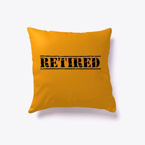 Retired Stamp Orange T-Shirt Front