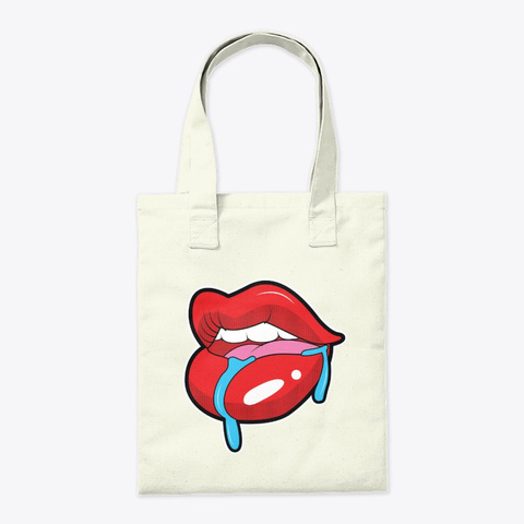 Tote Bags   Lips Art Natural T-Shirt Back