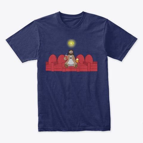 Jesus Loves Movies T Shirt Midnight Navy T-Shirt Front