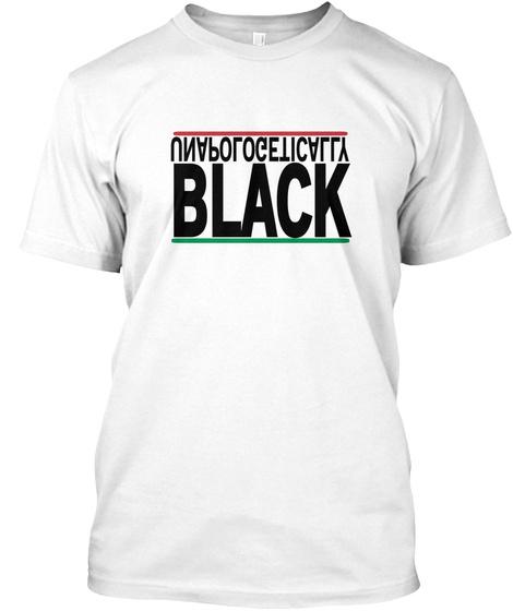 Black White T Shirt Front