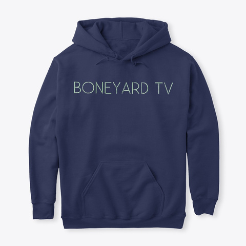 Boneyard Tv Merchandise Navy T-Shirt Front