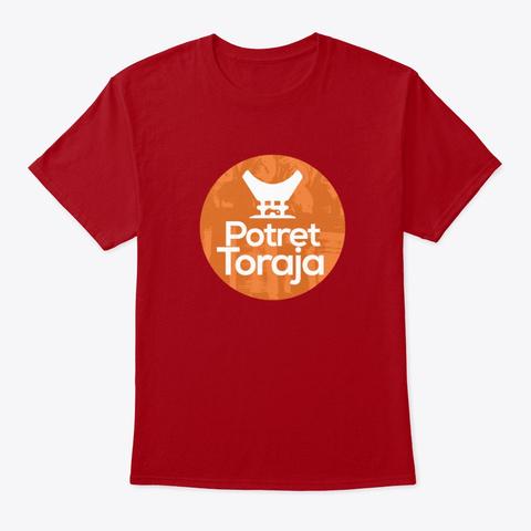 Potret Toraja Deep Red T-Shirt Front