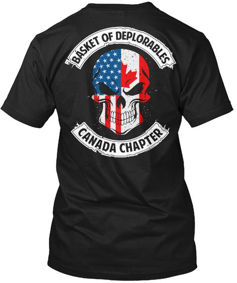 Basket Of Deplorables Canada Chapter Black T-Shirt Back