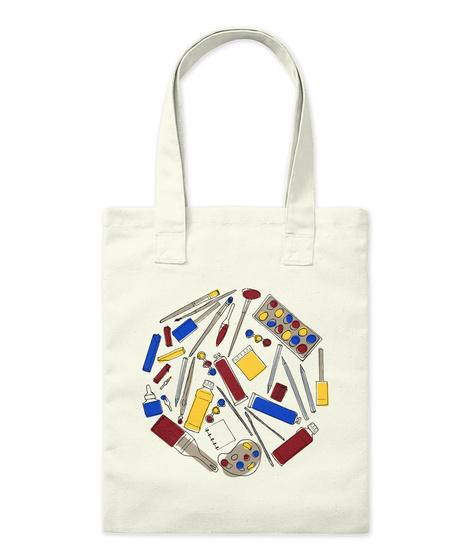 Art Supplies Tote Natural T-Shirt Front