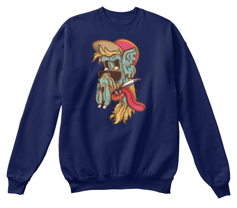 Old Skul Dude Navy  Sweatshirt Front