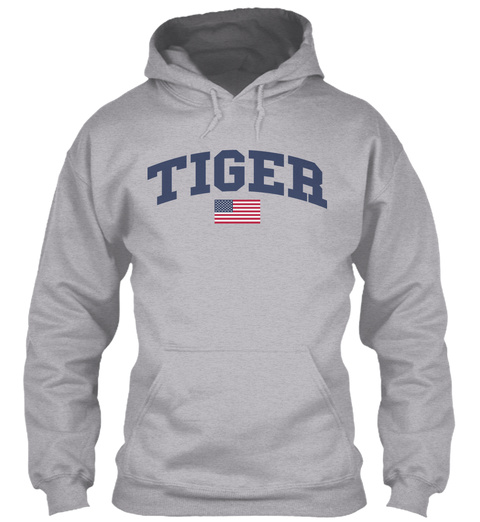 Tiger Family Flag Sport Grey T-Shirt Front