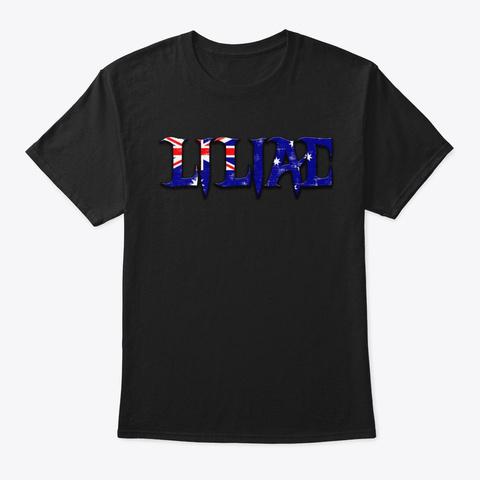 Liliac   Australia Flag Black T-Shirt Front