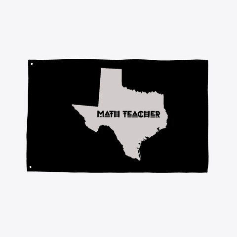 Math Teacher With Texas Map Pride Flag Black T-Shirt Front