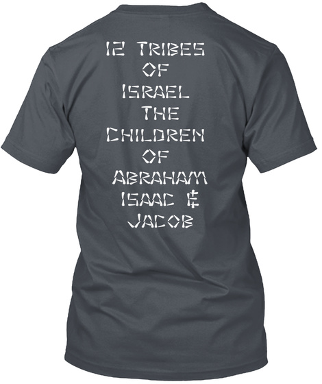 12 Tribes Of Israel The Children Of Abraham Issac Jacob Heavy Metal T-Shirt Back