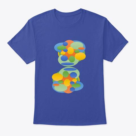 Blue Art Deep Royal T-Shirt Front