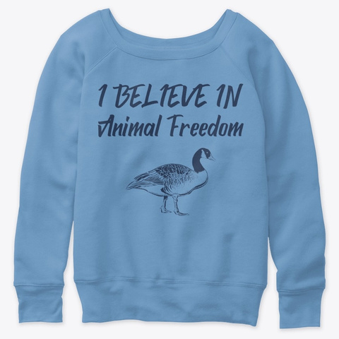I Believe In Animal Freedom Blue Triblend  T-Shirt Front