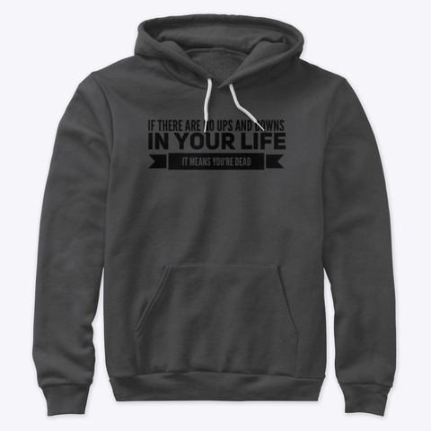 In Your Life| Collection  Dark Grey Heather T-Shirt Front