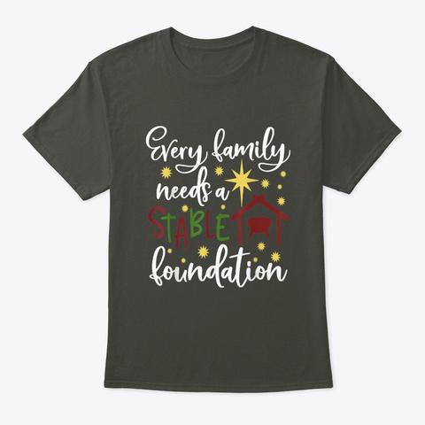 Christmas Stable Manger Spiritual Quote  Smoke Gray T-Shirt Front