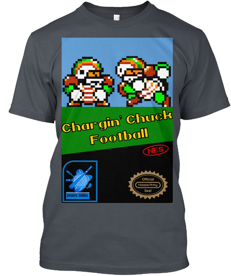 Chargin Chuck Football Heavy Metal T-Shirt Front