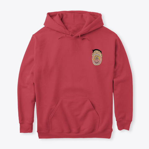 """""""Gulp"""" Cardinal Red T-Shirt Front"""