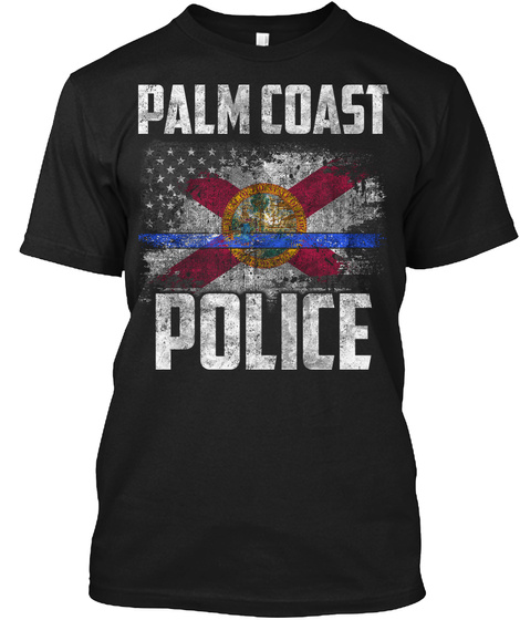 Palm Coast Police Black T-Shirt Front
