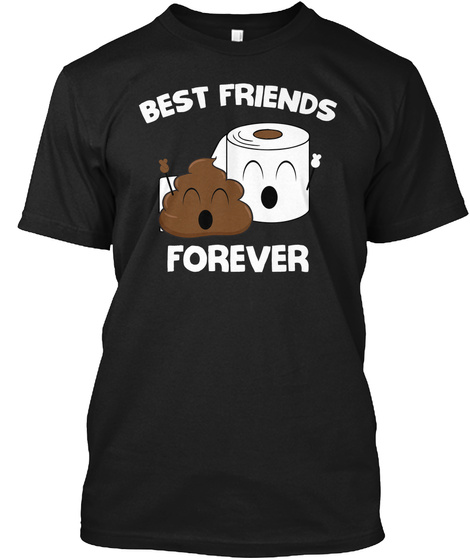 Best Friends Forever Black T-Shirt Front