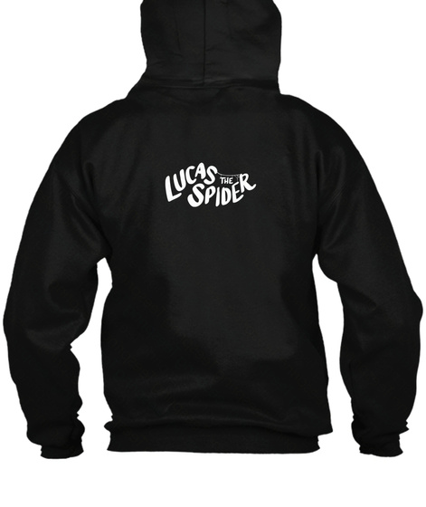 Lucas The Spider   *Boop* Zip Up Hoodie Black T-Shirt Back