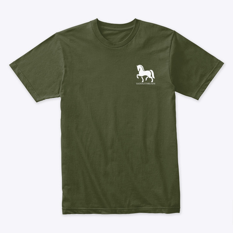 Thanksgiving Horse Military Green T-Shirt Front